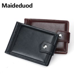 Wholesale vintage trunk purse - 2018 New Luxury Retro High Quality Leather Bifold Coins Purse and Wallet Men Card Holder Special Design Bag Clamp Card Holder