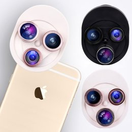 Wholesale Degree Fish Eye Lens - 4 in 1 mobile phone camera lens universal rotary 198 degree fish eyes 0.63x wide-angle macro polarizer