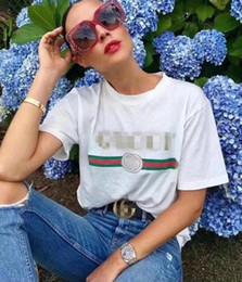 Wholesale wholesale designer clothes brands - 2018 Summer Designer T Shirts For Men Women Head Letter Print T Shirt Mens Clothing Brand Short Sleeve Tshirt Women Tops White S-2XL