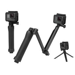 2019 trípode de cámara a prueba de agua Impermeable Monopod Selfie Stick para Gopro Hero 5 4 3 Sesión ek7000 Xiaomi Yi 4K Trípode para cámara Go Pro Accesorio trípode de cámara a prueba de agua baratos