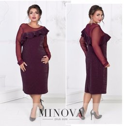 robes 5xl Canada - Sequin Christmas Party Dress Sexy Women Dress Plus Size  Winter Mesh Patchwork 04afc1a56