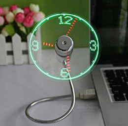 Wholesale Funny Displays - Wholesale- POV Led display fan can show time Funny Electronic toys