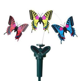 Beautiful Peradix Vibrazione Solar Power Dancing Flying Butterflies Hummingbird Decorazione del giardino Giocattoli a energia solare per i bambini supplier garden decorations butterflies da farfalle decorazioni da giardino fornitori