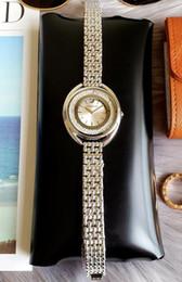 relógio de corrente de ouro para as mulheres Desconto Marca de moda swarovski Mulheres Relógio De Ouro dial de cristal de Aço Senhoras Cadeia relógio de pulso de Luxo de Qualidade designer de lazer relógio de Quartzo relógios