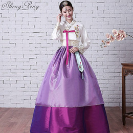 2019 vêtements traditionnels coréens 2018 nouveaux arrivants coréen robe traditionnelle coréen hanbok hanbok traditionnel robe vêtements habillés CC041 promotion vêtements traditionnels coréens