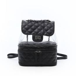 2018 Luxury leather designer bags clear bag transparent backpacks handbag lady  Backpack Laptop Sac à main girl Women 4colors 180503006 906546dd3e8cb