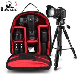 Wholesale dslr camcorder - New Pattern DSLR Camera Rucksack Video Backpack Photo Bags Small Compact Camera Backpack for Nikon Camera D3200 D3100 D5200 D7100
