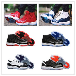 Wholesale Black Red 11s - 2017 Retro 11 Win Like 96 Win Like 82 Basketball Shoes Men Women Gym Red Black-White 11s Sport Shoes Trainers Sneakers With Box