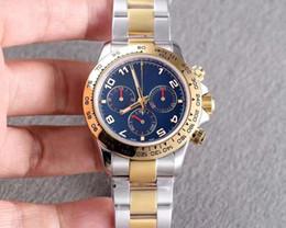 3c63629e1d5 2019 mestre original 2018 alta qualidade relógio de luxo de ouro 40 MM caso  mostrador azul