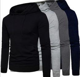 Blusas de cor clara on-line-Primavera e outono devem comprar! Legal Homem Com Capuz de mangas compridas camisola simples cor Pura e confortável Ao Ar Livre desgaste Esportes hoodie