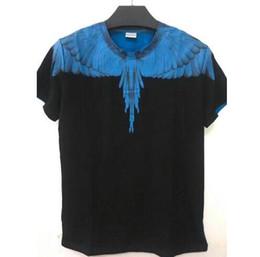 Mejores camisas de marca para hombres online-2018 Marca de la mejor calidad 1a: 1 Marcelo Burlon Camiseta Hombre Mujer Alas 3D Estampado de serpiente Camiseta Verano HIP HOP MB Camiseta Camisetas S-XXL