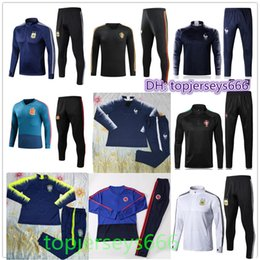Wholesale Football Mexico - France Spain Brasil Portugal Mexico Belgium Colombia Tracksuit 2018 World Cup soccer Tracksuit NEYMAR JR RONALDO football jacket Training