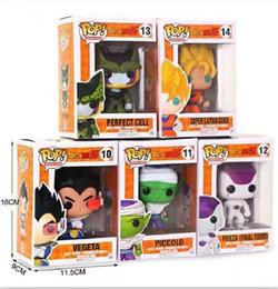 Argentina FUNKO POP Dragon Ball Z Son Goku Vegeta Piccolo Cell PVC Figura de acción Modelo de colección Toy Retail 5 estilos en stock Suministro