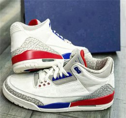 Wholesale sail shoes men - 2018 Best 3 USA International Flight Charity Game Man Basketball Shoes Sail Sport Royal-Fire Red 136064-140 Athletic Sneakers Authentic