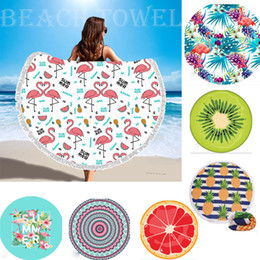 Wholesale Microfiber Towel Thick - 32 Style Round Beach Towel with Tassel Microfiber Shower Towels Circle Bohemia Bath Towels Shawl Mat Thick Wholesale