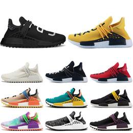 size 40 a34f2 9d2f1 neuankömmlinge schuhe Rabatt Adidas nmd human race Hu Trail x Pharrell  Williams Männer Laufschuhe Schwarz Gelb