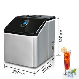 Wholesale Commercial Milk - milk tea shop stainless steel 25kg ice maker machine commercial ice cube machine water adding household ice maker