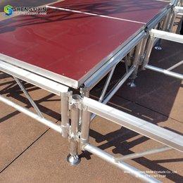 Plate-forme d'étape en aluminium d'équipement d'événement de haute qualité à vendre plate-forme portative en aluminium se pliante de scène de qualité / étape de panneau d'assemblée ? partir de fabricateur