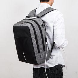 2019 mochila recargable Mochila de viaje Moda masculina multifuncional antirrobo mochila Inteligente usb recargable bolso de la computadora envío de la gota mochila recargable baratos