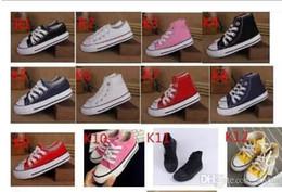 2019 style de chaussures casual garçons 15color style classique toutes les tailles 24-34 bas haute style haute qualité toile sneakers enfants garçons filles chaussures de sport occasionnels chaussures promotion style de chaussures casual garçons