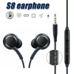Wholesale Quality Sound - High Quality For Samsung Galaxy S8 S8 Plus In Ear Wired Headset Stereo Sound Earbuds Volume Control for S6 S7 Note 8 Earphone OM-P5