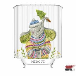 [MIAOJI] Aquarelle Animaux Mignon Singe Fox Ours Éléphant Imprimer Rideau De Douche Multi Tailles Salle De Bains Rideau Décor Livraison Gratuite ? partir de fabricateur