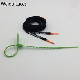 "shoe strings Coupons - Weiou Fashionable Flat Cotton Printing ""SHOELACES"" Strings With Silicone Tips Shoe Laces With Colorful Zip Tie Double Layer Printed Letters"