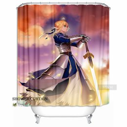 """Wholesale Ring Stay - Vixm Home Servant Saber Altria Fabric Shower Curtain Fate Stay Night Bath Curtain for Bathroom With Hook Rings 72"""" X 72"""""""