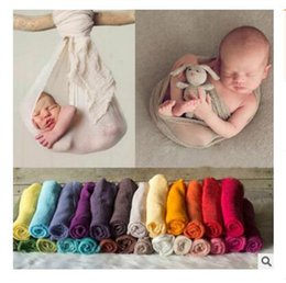 Wholesale Red Nursery - Photo Prop Newborn Swaddle Baby Wrap 13 Colors Infant Blankets Toddler Cotton Linen Swaddling Nursery Bedding Parisarc Bathing Towels