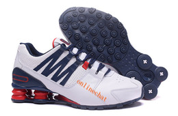 Wholesale Deep Online - 2018 New Mens Shox Avenue Running Shoes Online Discount Shox Leather Trainers Breathable Lace Up Mens Sneakers Designer Shoes
