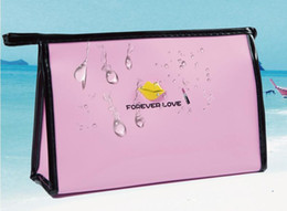 Venda quente para sempre amor mulheres senhora saco de Cosméticos Coréia pequeno armazenamento à prova d 'água feminino saco de embreagem portátil viagem dos desenhos animados lavagem bolsa de maquiagem bolsa de Fornecedores de cosméticos cartoon sacos