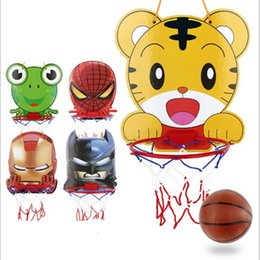 Wholesale Develop Board - New Creative Funny Children's Cartoon Outdoor Indoor Adjustable Mini Basketball Board Hanging Shooting Sports Sports Game Toys