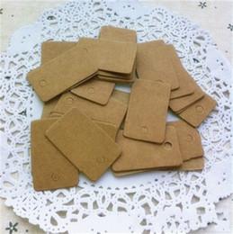 2019 tarjetas para palabras Kraft Paper Square etiqueta pequeña tarjeta de papel en blanco Word Identify Cards etiqueta de jabón hecha a mano Wedding Ceremony Gifts 1wn gg rebajas tarjetas para palabras