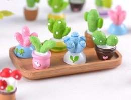 miniature decorative Sconti 20pcs misti resina serie cactus miniature accessori paesaggio per la casa decorazione della torta giardino scrapbooking fai da te