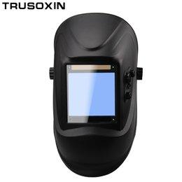 Wholesale control lens - Out control Big view eara 4 arc sensor DIN5-DIN13 Solar auto darkening TIG MIG MMA welding mask helmet welder cap lens face mask