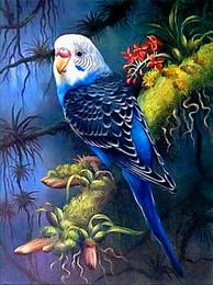 malereien frida kahlo Rabatt Diy diamant malerei kreuzstich kit strass volle runde diamant stickerei tier vogel papagei hause mosaik dekoration