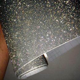 2019 faróis de besouro 50 * 42 Acessórios de Estilo de Carro de luxo Prata Corpo Filme DIY Glitter Adesivos Interiores Diamante Vinil Brilhante Car Wrap para Uso Doméstico Carro