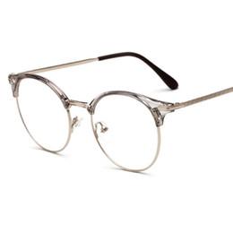 a7548fffd64 2018 New TR90 + metal anti-radiation Coating lens Eyeglasses Frames Men  Women Optical Plain Mirror Eye Glasses Frame for Myopia Glasses