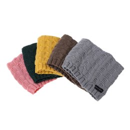 Wholesale cute scarves for kids - Winter Spring Autumn Fashion Woolen Children Scarf Cute Warm Winter Soft Shawl Seamless Wrap For Kids