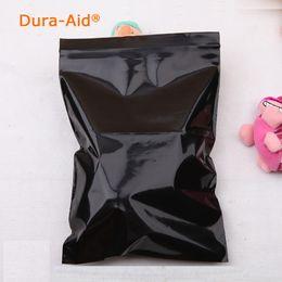 Wholesale Black Ziplock Bags - 500pcs lot Black color Self Sealing Plastic Bags,small plastic ziplock bags Premium Poly Flat Black Zip Lock Pouches