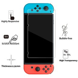 Wholesale nintendo screen protectors - Real 9H Ultra-clear Tempered Glass Screen Protector Film For Nintendo Switch Protective Film Cover For Nintendo Switch 2017 NS Accessories