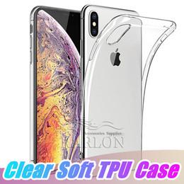 2019 slim cases pour iphone Thin Ultra-Slim Fit Cristal Clair Transparent Flexible TPU Couverture De Cas De Téléphone Compatible pour iPhone Xs Max XR Xiaomi Poco F1 8 8SE 6X MAX 3 slim cases pour iphone pas cher