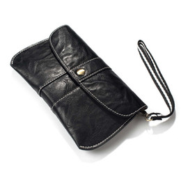 Wholesale Lg Smartphone Covers - 5.2inch Universal Outdoor Sports Leather Waist Belt Pouch Case Cover Bag Holster For Multi Smart Phone Smartphone For iPhone 6 7 8