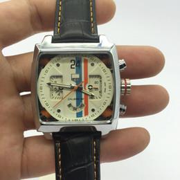 старинная кварцевая кожа Скидка lInvicta человек наручные часы горячий роскошный бренд 42 мм старинные кожаные часы мужские платья кварцевые часы военные 3atm спортивные часы Relógio masculino