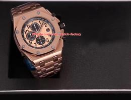 7 colores de lujo AAA + calidad reloj N8 Factory 42mm Offshore 26470OR.OO.1000OR.01 18k oro rosa VK cuarzo cronógrafo Workin Relojes desde fabricantes