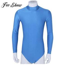Trajes online-Feeshow Body Shaper Mens de una pieza Stretch Bodysuits masculinos Sexy ropa interior Shapers Hombres Ropa Hombres Leotardo Body Mono
