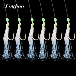 2019 ganchos de gabarito mustad Fishhooks para pescar o gancho de corda Gold-plated da combinação dos peixes com o gancho 6 pequeno