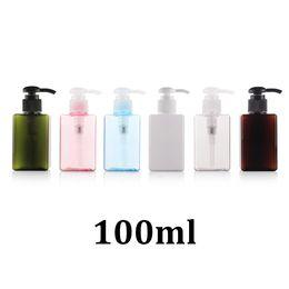 Wholesale Plastic Soap Pumps Bottle - 100ml PETG plastic sub-packed cosmetics pressing type foam soap pump bottle