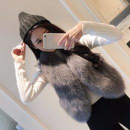 Wholesale White Faux Fur Top - Fashion 3XL Plus Size Faux Fur Coat Women Soft Warm Fox Fur Vest Jacket Femme Autumn Winter Sleeveless Outwear Waistcoat tops