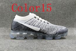 Wholesale Rainbow Men - High Quality 2018 New Rainbow VaporMax men Fashion color15-28 Athletic Sport Shoe Hot Corss Hiking Jogging Walking Outdoor Shoe